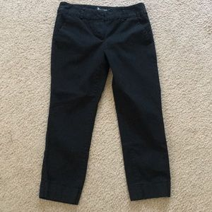 New York and Company Black Cropped Pant